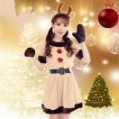 トナカイ コスチューム 衣装 鹿 コスプレ クリスマス 着ぐるみ かぶりもの トナカイ コスプレ トナカイ衣装 女性用 サンタ コス サンタクロース パーティグッズ