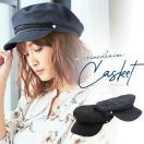 キャスケット帽 帽子 マリン デニム つば付き J492