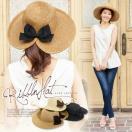 女優帽 UVカット ハット 帽子 つば広  UVカット レディース 麦わら帽子 脱げにくい サイズ調節 J510送料無料