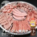 バーベキュー焼肉 プレミアム焼肉セット 1.2kg(4〜5人前) ロース 赤身 カルビ ウィンナー タレ付き