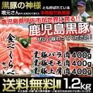 鹿児島黒豚  お歳暮 ギフト 黒豚贅沢 食べくらべセット5 バラ肉・400g モモ肉・400g 上肩肉・400g お肉 豚肉 美味しいお肉 六白