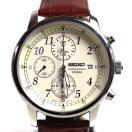 セイコー SEIKO クロノグラフ 白文字盤 メンズ腕時計 クォーツSN...