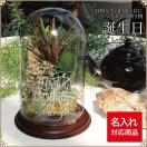 誕生日 プレゼント 花 グリーンアレンジ アーティフィシャル 名前 名入れ ガラスドーム フラワー 造花 オンリーワン プレゼント ビッグサイズ