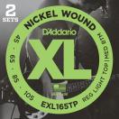 D'Addario EXL165TP Nickel Round Wound - Twin Packs (ベース弦) ダダリオ