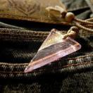 『Acute triangle』 ガラスアクセ ネックレス・ペンダント 四角・多角・星タイプ