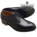 SHOEISMシューイズム112Vチップスプリットトゥブラックメンズビジネスシューズ本革革靴