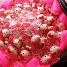 母の日 プレゼント キティ 花束 キティ キティ キティ いっぱいの枯れない 花束 ◆かわいい造花です♪