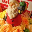 クリスマスプレゼント  フラワーギフト♪ クリスマス  サンタクロース&プリザーブドフラワー