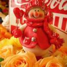 クリスマスプレゼント  花 フラワーギフト♪ スノーマン&プリザーブドフラワー  クリスマスプレゼント♪
