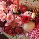 クリスマスプレゼント  花 フラワーギフト♪ ミニサンタ&プリザーブドフラワー  クリスマスプレゼント♪