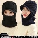 ニットキャップ フェイスマスク 目出し帽 ニット帽 一つ穴 裏起毛 防寒マスク ユニセックス フリーサイズ 冬アイテム