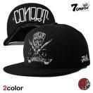 セール 7UNION セブンユニオン スナップバックキャップ 帽子  メンズ レディース スカル コラボ bk rd ptn