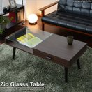 ローテーブル ガラステーブル センターテーブル 引出付 収納機能 リビングテーブル おしゃれ シンプル 北欧 「ジオ」 送料無料