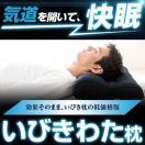 枕 いびき 枕 首こり 肩こり いびき防止枕 洗える枕 いびきわた 枕 ブラック 43×63cm