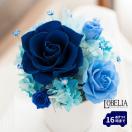 プリザーブドフラワー ギフト 誕生日 プレゼント 結婚祝い 結婚記念日 花 青いバラ ブリザードフラワー Bloom ケース入り