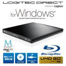 UHD BD(Ultra HD Blu-ray)ドライブ搭載 USB3.0ポータブルブルーレイドライブ(書込ソフト付)ブラック LBD-PUD6U3LBK