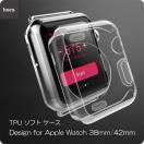 hoco Apple Watch 38/42 クリア ケース 透明ケース 38mm 42mm TPU 軽量 耐衝撃 アップル ウォッチ applewatch カバー