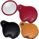 虫眼鏡 ポケットルーペ 3123 3.5倍 45mm 携帯用本革製