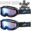 ゴーグル アックス ダブルワイドレンズ メガネ対応 AXE スキー スノーボード 曇り止め加工 AX888-WBU