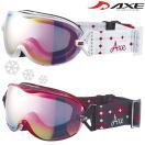ゴーグル レディース 女性用 スノーボード スキー 曇り止め [17-18カタログモデル] AX-650-WCM ダブルレンズ スノーゴーグル ヘルメット対応 AXE アックス