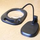 虫眼鏡 卓上 拡大鏡 スタンド ルーペ 大型レンズ スタンドルーペ LEDライト付 CMS130 2倍 130mm