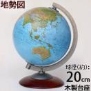 地球儀 入学祝い 小学校 子供用 学習 インテリア SAT20 地勢図 球径20cm