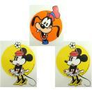 送料無料 ミニーマウス&グーフィー ステッカー シール 2種3枚セット ディズニー