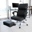 オフィスチェア リクライニング パソコンチェア オットマン付き 椅子 ハイバック 170度 無段階 肘つき 耐荷重100kg おしゃれ