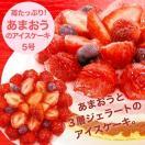 送料無料 苺たっぷり!あまおうのアイスケーキ(5号)誕生日ケーキ|ジェラート|いちご|