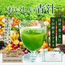 青汁 国産 おいしい青汁 3g×30袋 万田酵素入り 粉末タイプ 公式 栄養補助食品 植物発酵エキス 桑の葉 大麦若葉 抹茶 乳酸菌 植物性