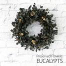 ユーカリリース-プリザ プリザーブドフラワーリース  送料無料 クリスマスリース ギフト 玄関 壁掛け おしゃれ プリザードフラワー ギフト