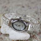 ハワイアンジュエリー時計 シルバーブレスウォッチ スカシホヌ/腕時計 レディース