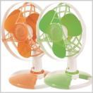 扇風機 サーキュレーター APRO 小型 卓上扇風機 3枚羽根 グリーン オレンジ 小型ソフトファン ミニファン 扇風器 送風機 KDF-S23