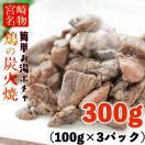 宮崎名物 焼き鳥 鶏の炭火焼100g×3パック ...