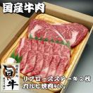 送料無料!国産牛肉「厳選・旨い牛」ステーキ&焼肉ギフトセット! の商品ページへ