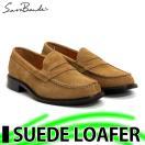 サラバンド日本製本革スエードローファー8609LIGHTBROWNビジネスシューズメンズ紳士革靴