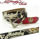 Ed Hardy Belt(エドハーディー ベルト)レザー ベルト〔EH1386〕NEW TIGER ニュータイガー ユニセックス XS