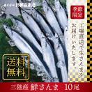 <10月より順次発送>三陸 気仙沼産 生さんま 1.2kg(9〜10尾) 鮮サンマ 秋刀魚...