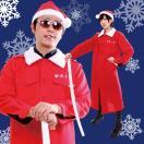 即納 サンタ コスプレ 衣装 メンズ レディース 大きいサイズ 男性 女性 大人 サンタクロース マント 特攻服 聖夜上等 Men's