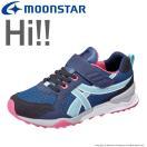 子供靴 【セール50%OFF】 キッズスニーカー ムーンスター MS C2164 ネイビー/ピンク moonstar