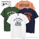 ステュディオ・ダルチザン STUDIO D'ARTISAN USAコットンプリントTシャツ [WILD WEST] 9973B メンズ 日本製 半袖