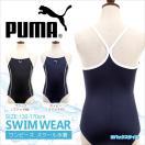 PUMA(プーマ)スクール水着女の子ワンピース(水着スイミング水泳競泳用学校用プールネイビーブラック)