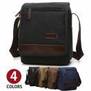 特価 ショルダーバッグ 耐久性 高級キャンバス 帆布 メンズ 斜め掛け 自転車 鞄かばん iPadmini 書類かばん メッセンジャーバッグ