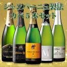 ワイン (約38%OFF)W金賞&高評価ワイン入り!シャンパーニュ製法カバ5本セット