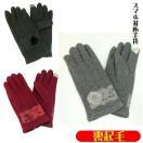 暖かい手袋 レディース ファッション小物 スマホ対応 裏起毛のグローブ 秋冬新作