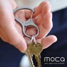 moca(モカ) KARABINER カラビナ キーホルダーシンプルだけど存在感。カラビナタイプのキーホルダー。 カラビナ フック 鍵