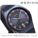 ベーリング サファイアガラス チタニウム 37mm メンズ 11937-393 BERING 腕時計