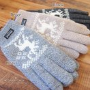 手袋 メンズ フリース防寒 グローブ ニット ノルディック柄 鹿 シンプル メール便 バレンタイン プレゼント