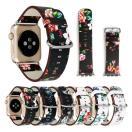 Apple watch ベルト 38mm 42mm バンド交換 品質レザーベルト/アップルウォッチ 交換ベルト カワイイ 時計バンド バンド 花柄  可愛い 軽量 アダプター付き