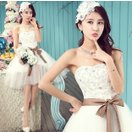 ウエディングドレス ミニ 花嫁 二次会 ドレス ウェディングミニドレス  結婚式 コンサート 演奏会  安い ワンピース カラードレス 白